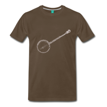 Load image into Gallery viewer, Men's Banjo T-Shirt - noble brown