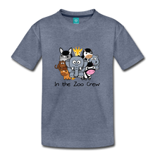 Load image into Gallery viewer, Kids' In the Zoo Crew T-Shirt - heather blue