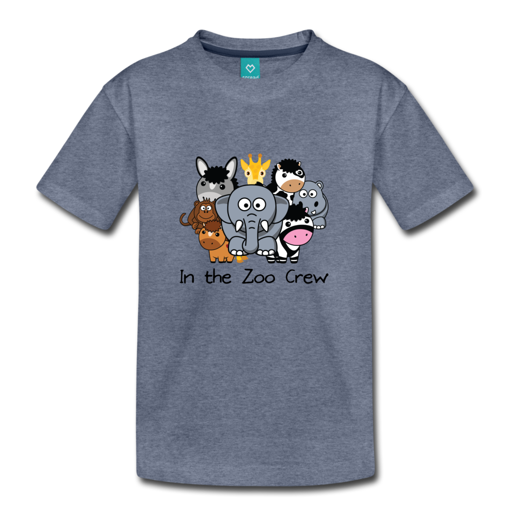 Kids' In the Zoo Crew T-Shirt - heather blue