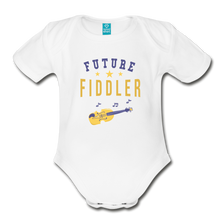 Load image into Gallery viewer, Future Fiddler Baby Bodysuit - white