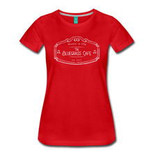 Load image into Gallery viewer, Women's The Bluegrass Cafe (music is life) T-Shirt - red