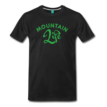 Load image into Gallery viewer, Men's Mountain Life (script) T-Shirt - black
