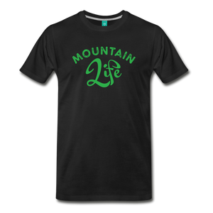 Men's Mountain Life (script) T-Shirt - black