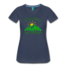 Load image into Gallery viewer, Women's Mountains Feel Like Home T-Shirt - navy