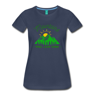 Women's Mountains Feel Like Home T-Shirt - navy