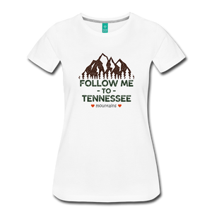 Women's Follow me to Tennessee T-Shirt - white