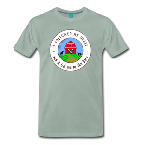 Men's Followed my Heart (colored) T-Shirt - steel green