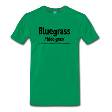 Load image into Gallery viewer, Men's Bluegrass Definition T-Shirt - kelly green
