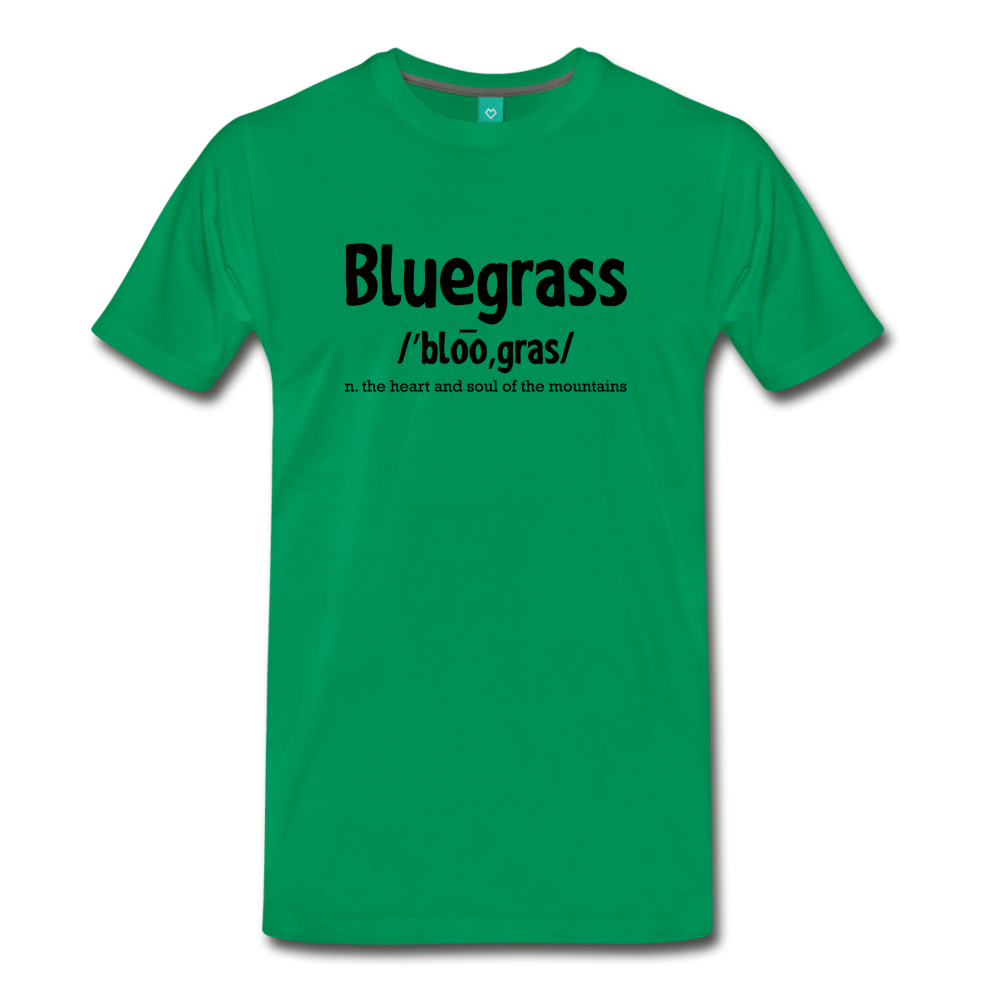 Men's Bluegrass Definition T-Shirt - kelly green