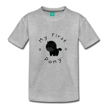 Load image into Gallery viewer, Kids' My First Pony T-Shirt (black) - heather gray