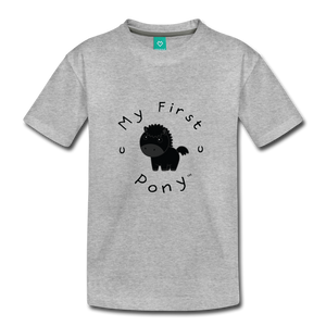 Kids' My First Pony T-Shirt (black) - heather gray
