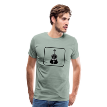Load image into Gallery viewer, Men's Upright Bass  Icon T-Shirt - steel green