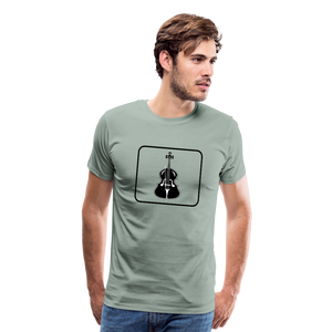 Men's Upright Bass  Icon T-Shirt - steel green