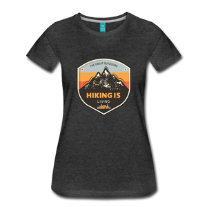 Women's Hiking T-Shirt - charcoal gray