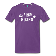 Load image into Gallery viewer, Men's All I Need is Hiking T-Shirt - purple