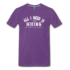 Men's All I Need is Hiking T-Shirt - purple