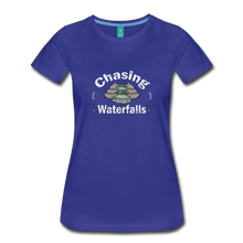 Load image into Gallery viewer, Women's Chasing Waterfalls T-Shirt - royal blue
