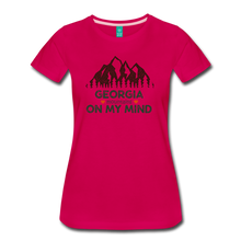 Load image into Gallery viewer, Women's Georgia on my Mind T-Shirt - dark pink