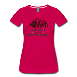 Women's Georgia on my Mind T-Shirt - dark pink