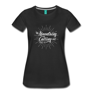 Women's Mountain Calling T-Shirt (white) - black