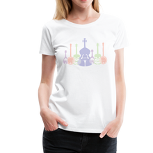 Load image into Gallery viewer, Women's Shadowed Bluegrass T-Shirt - white