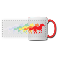 Load image into Gallery viewer, Rainbow Horses Mug - white/red