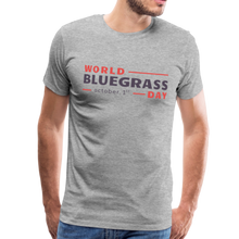 Load image into Gallery viewer, Men's Colored World Bluegrass Day T-Shirt - heather gray