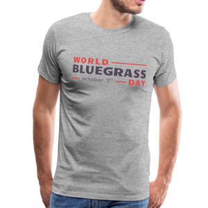 Men's Colored World Bluegrass Day T-Shirt - heather gray