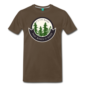 Men's Its the Wood T-Shirt - noble brown