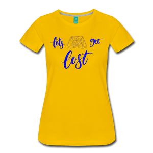 Women's Lets Get Lost T-Shirt - sun yellow