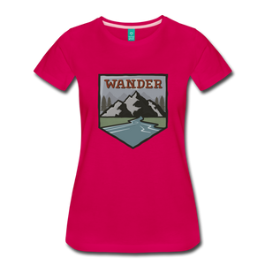 Women's Wander T-Shirt - dark pink