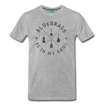 Load image into Gallery viewer, Men's Bluegrass is in my Soul T-Shirt - heather gray