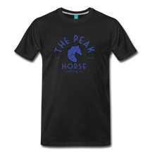 Load image into Gallery viewer, Men's The Peak Horse (art-deco) T-Shirt - black