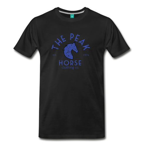Men's The Peak Horse (art-deco) T-Shirt - black