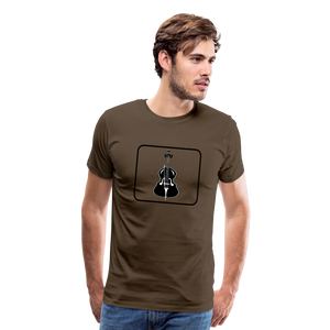 Men's Upright Bass  Icon T-Shirt - noble brown