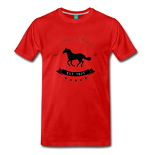 Load image into Gallery viewer, Men's Live to Ride T-Shirt - red