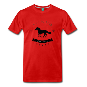 Men's Live to Ride T-Shirt - red