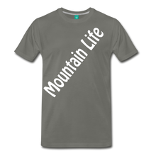 Load image into Gallery viewer, Men's Diagonal Mountain Life T-Shirt - asphalt