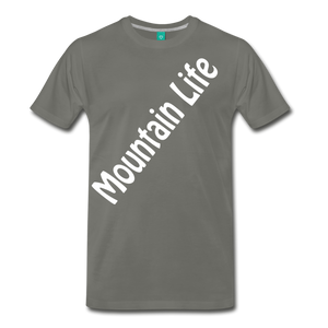Men's Diagonal Mountain Life T-Shirt - asphalt