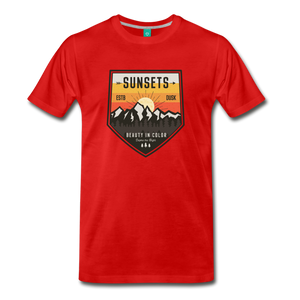 Men's Sunset T-Shirt - red