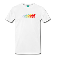 Load image into Gallery viewer, Men's Retro Rainbow Horse T-Shirt - white