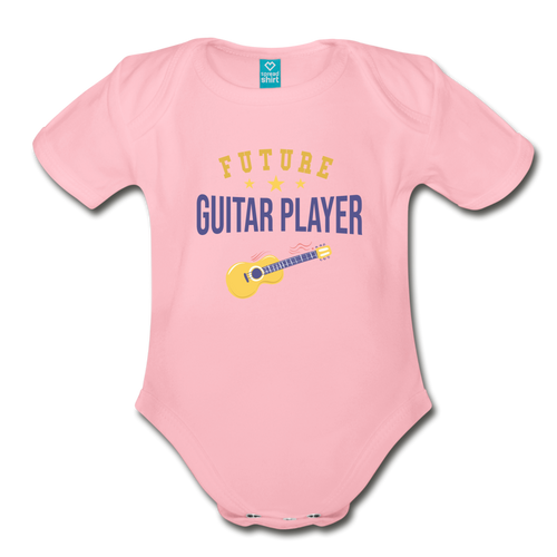 Future Guitar Player Baby Bodysuit - light pink
