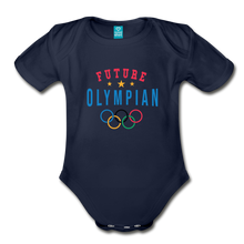 Load image into Gallery viewer, Future Olympian Baby Bodysuit - dark navy