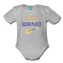 Load image into Gallery viewer, Future Guitar Player Baby Bodysuit - heather gray