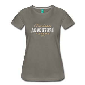 Women's Outdoor Adventure Canada T-Shirt - asphalt