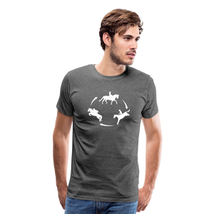 Men's 3-Day Eventing Circle T-Shirt - charcoal gray