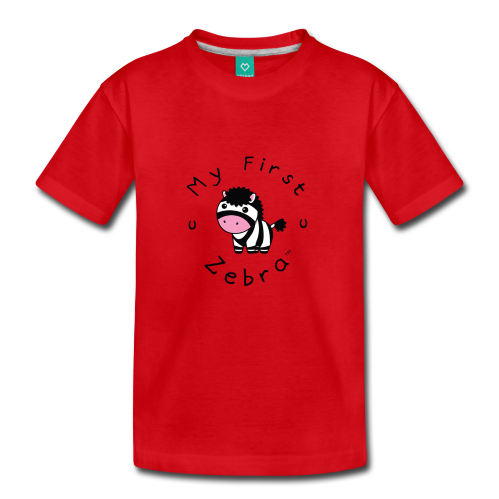 Toddler My First Zebra T-Shirt - red