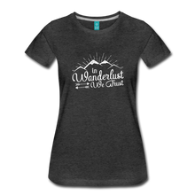 Load image into Gallery viewer, Women's Wanderlust T-Shirt (white) - charcoal gray