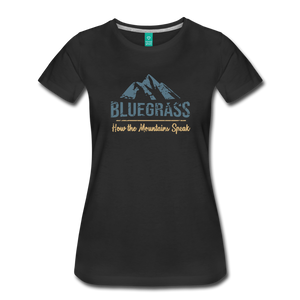 Women's Bluegrass Mountains Speak T-Shirt - black