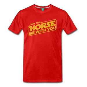 Men's May The Horse be with You T-Shirt - red
